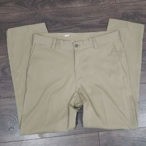 ❤ NIKE DRI-FIT KHAKI COLORED LIGHTWIEGHT PANTS, 30